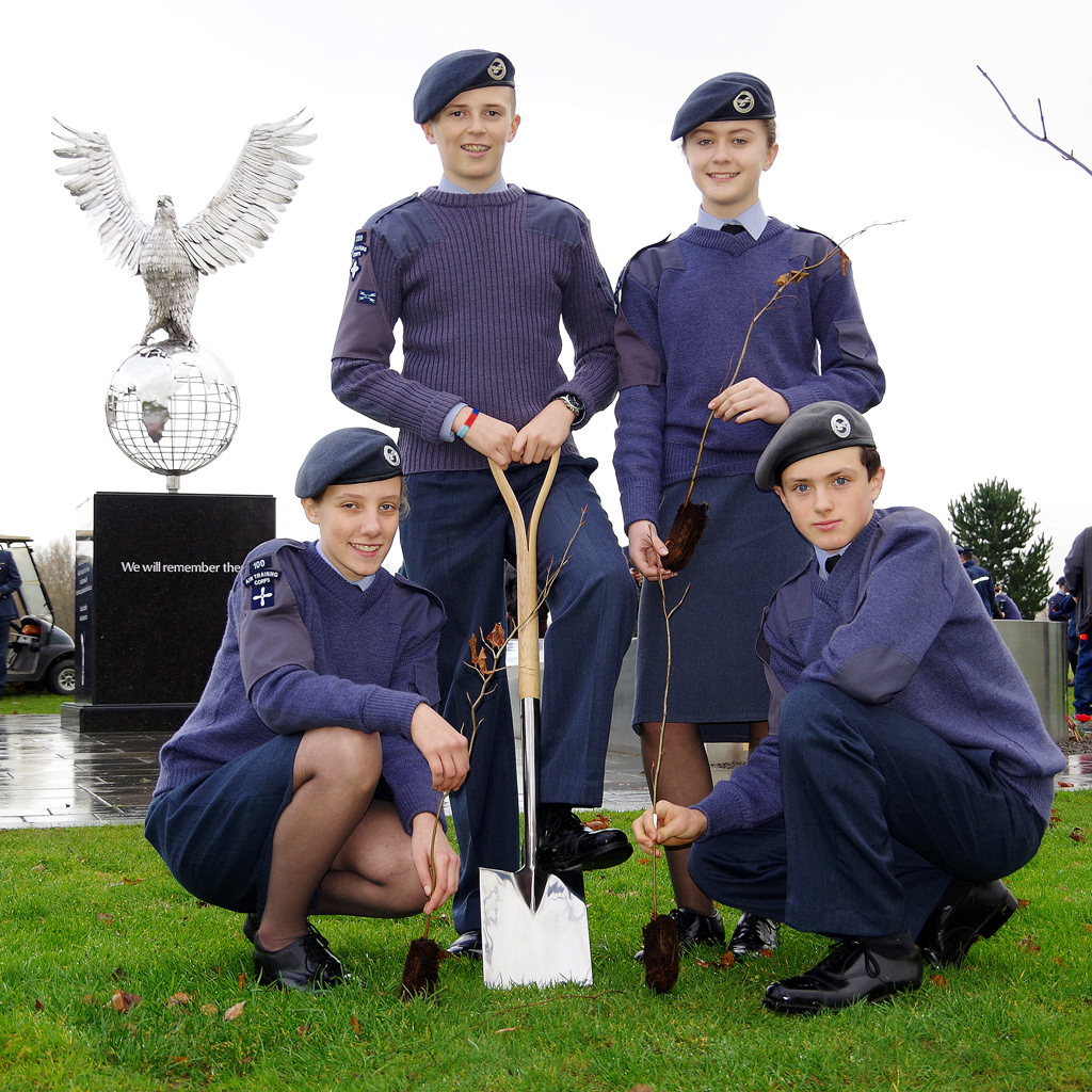Tree planting marks anniversary of Air Cadets at National Memorial Arboretum